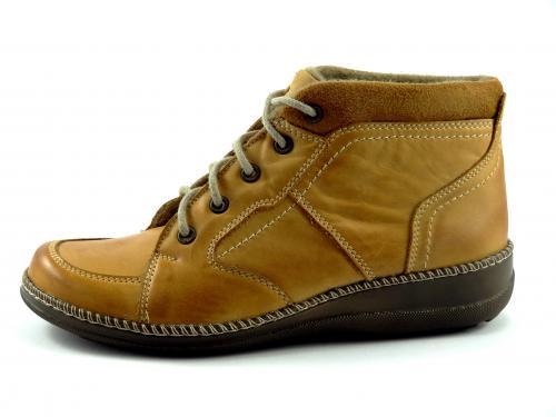 Kotníková šněrovací obuv béžová