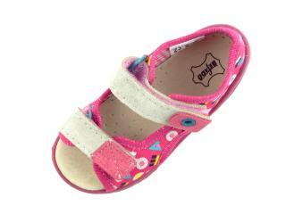 Befado dětské sandály 065P 153 růžová