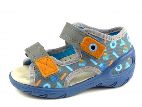 Befado dětské sandály 065P 160 modrá
