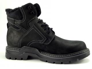 Kotníková obuv šněrovací černá