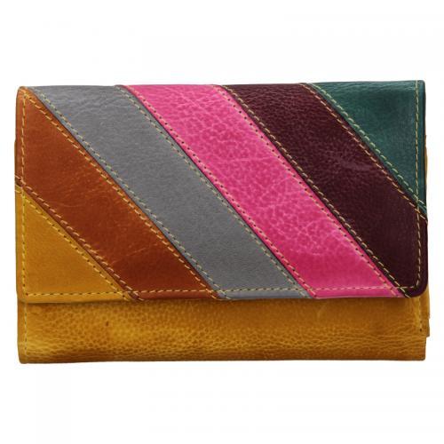Lagen peněženka 864-77/D  žlutá multi