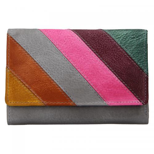Lagen peněženka 864-77/D  šedá multi