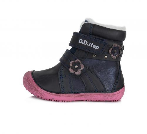 Dětská zimní obuv D.D.step W063-580 modrá