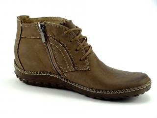 Kotníková nízká šněrovací obuv béžov