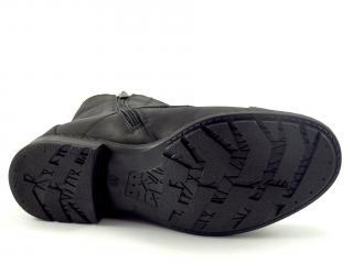 Karino1015 kotníková šněrovací obuv zip