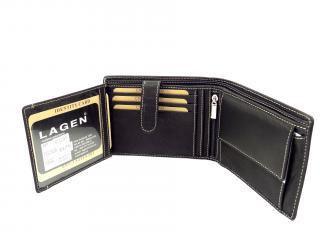 Lagen 615195 kožená peněženka čer