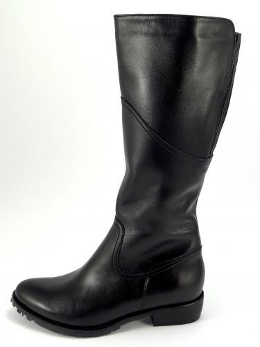 K243 kozačka kožená černá hladká