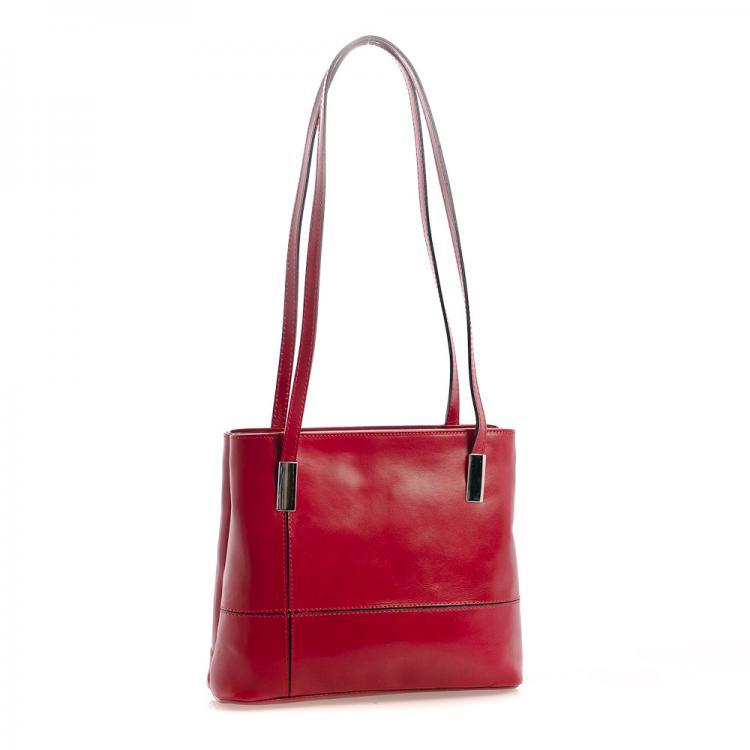 3e2959b6f2 Vera Pelle kabelka tmavě červená