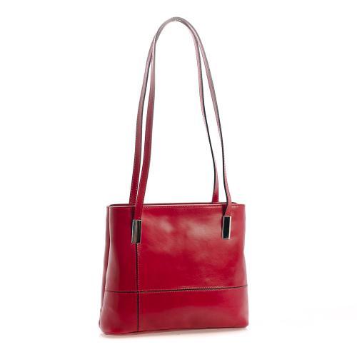 Vera Pelle kabelka tmavě červená