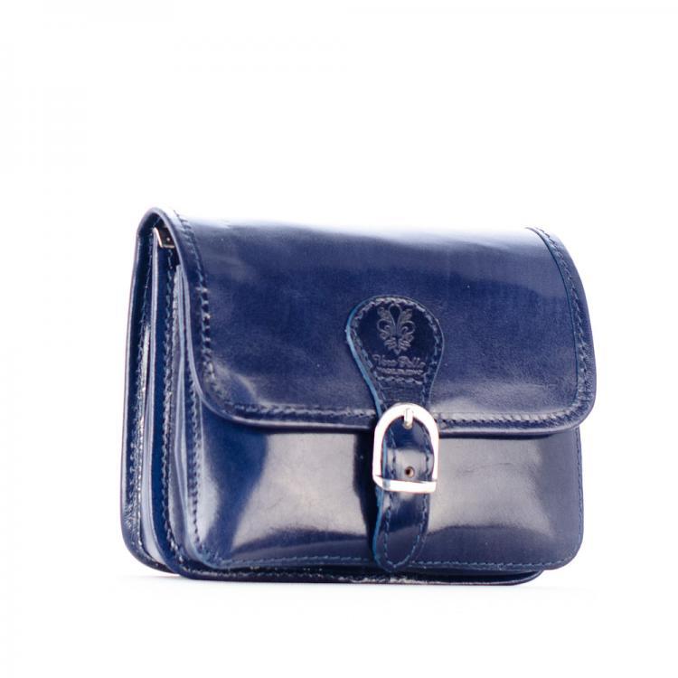 S0025 malá kožená kabelka tm.modrá fe05d734fc7