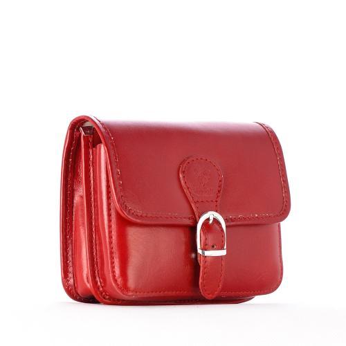 S0025 kožená kabelka malá červená