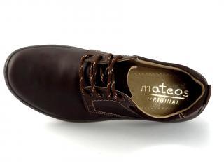 Mateos hnědé pánské polobotky