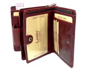 Lagen 2077/T wine red peněženka