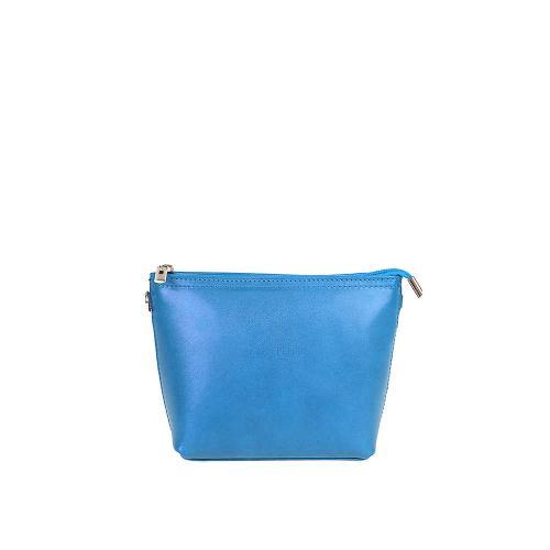 Vera Pelle modrá kožená kabelka