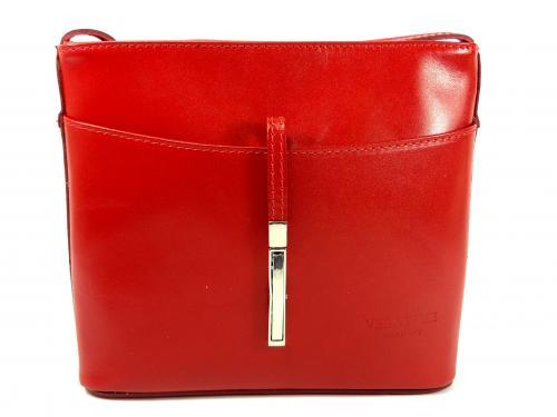 Vera Pelle červená kožená kabelka