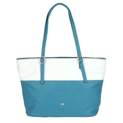 David Jones CM3136 kabelka bílo modrá