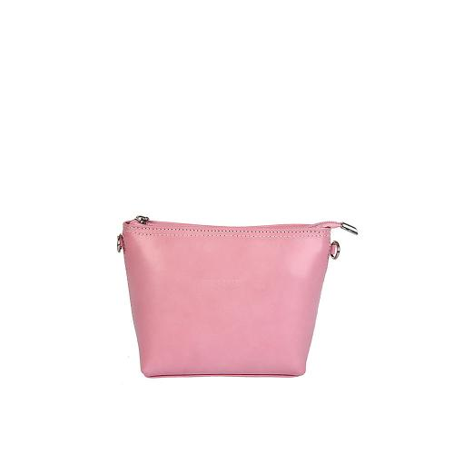 Vera Pelle růžová kožená kabelka