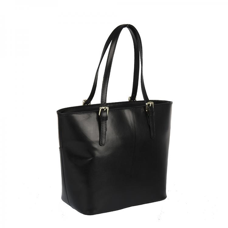 06b0cfd506 S0398luxusní kožená kabelka černá