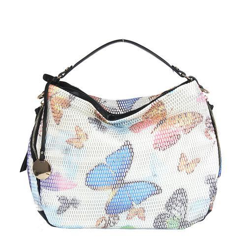 Styline 8148 kabelka béžová motýlí vzor