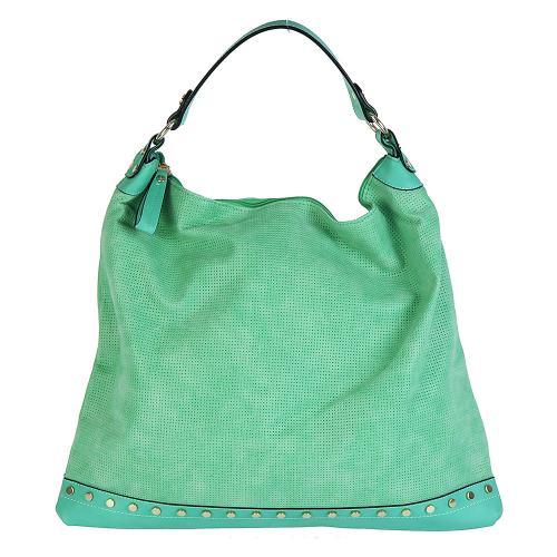 Dudlin 7035 velká kabelka zelená