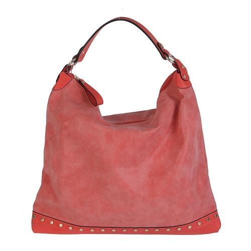 Dudlin 7035 velká kabelka červená
