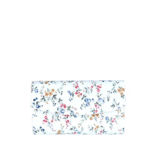 PO244 psaníčko bílé motiv květy lak