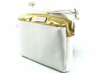 Monnari 1500 kabelka bílá se zlatou