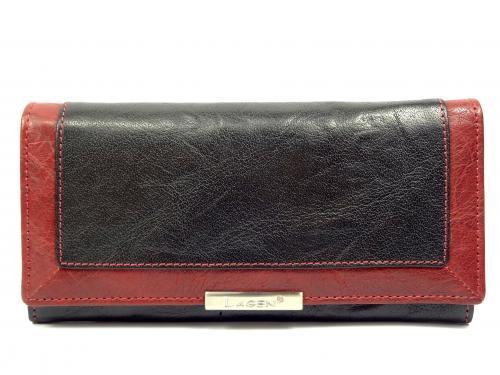 Lagen LN1844 black/red peněženka