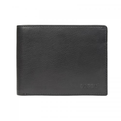 Lagen W113 black  peněženka černá