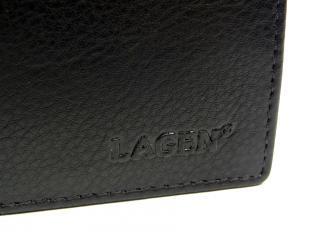 Lagen W184 black  peněženka černá