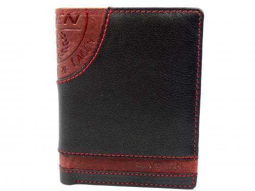 Lagen LG1813 black/red peněženka