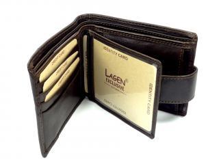Lagen V06/T brown peněženka
