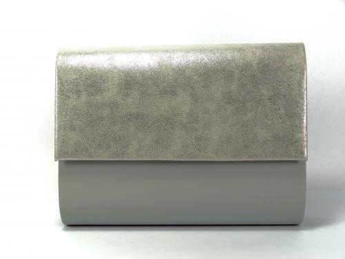 Psaníčko P0535 stříbrné s šedou