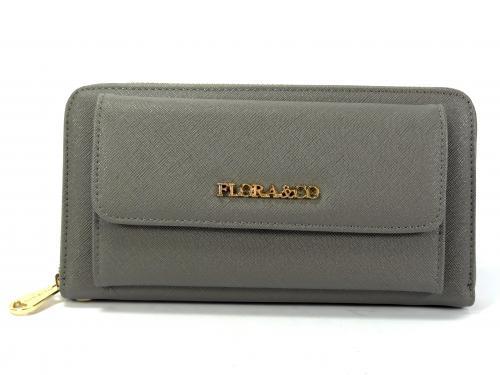 Flora&CO šedá peněženka K8888