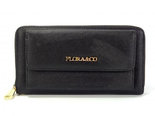 Flora&CO černá peněženka K8888