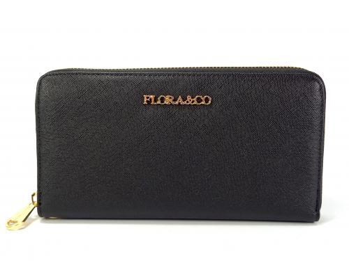 Flora&CO černá peněženka K122