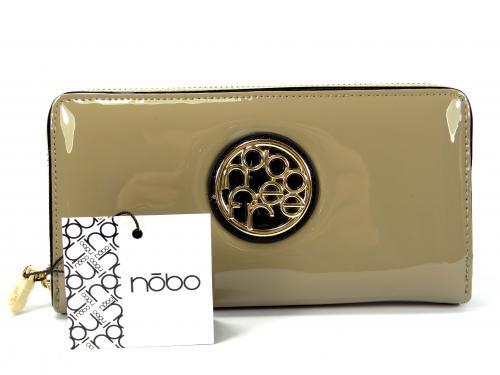 Nóbo béžová lak peněženkaC015