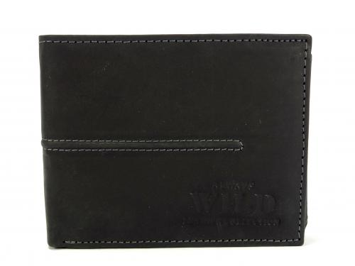Wild MH1 černá kožená peněženka