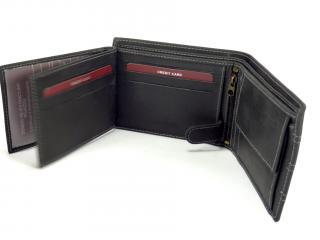 Wild MHU hnědá kožená peněženka