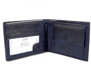 Wild WS modrá kožená peněženka