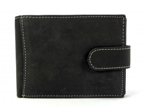 Wild H černá kožená peněženka