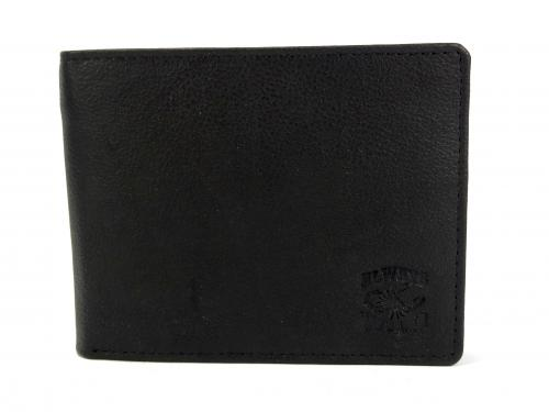 Wild ALN černá kožená peněženka