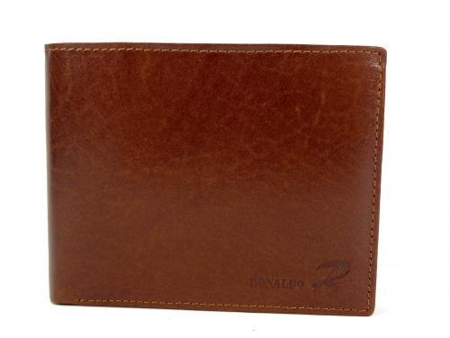 Ronaldo VT hnědá kožená peněženka