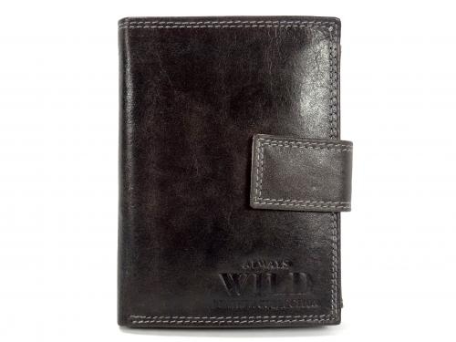 Wild MCR černá kožená peněženka