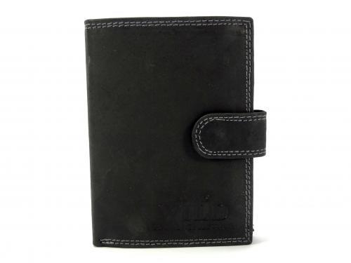 Wild MHU černá kožená peněženka