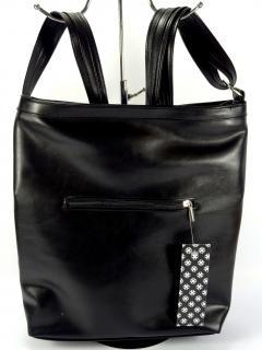 Carine C69 černá hladká kabelka