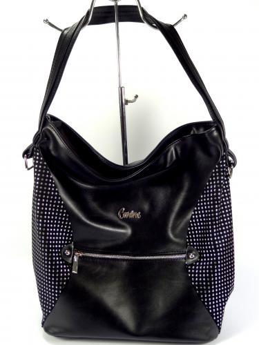 Carine C89 zdobená černá kabelka