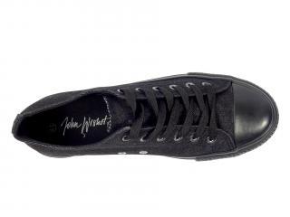 085M JBK black jeans plátěné tenisky