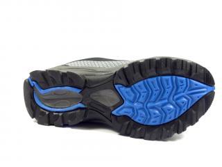038 D černo modrá softshellová obuv
