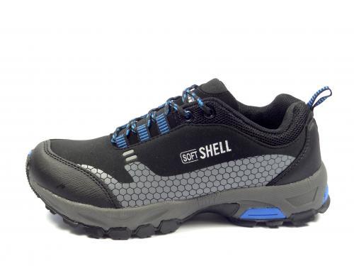 038Mčerno modrá softshellová obuv